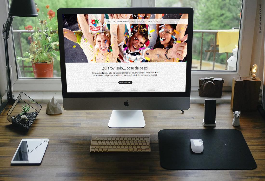 realizzazione sito web cosadapazzianimation